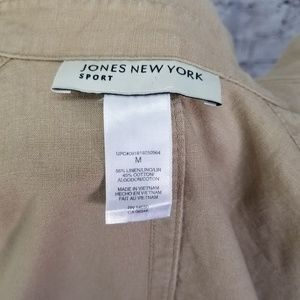 Jones New York Tops - 🌵Jones New York Sport  M Tan Button Down Linen
